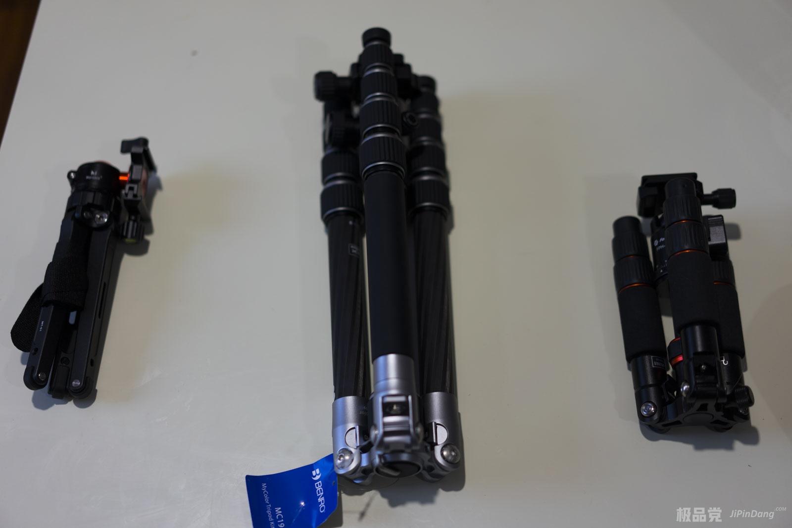 近期入手3个三脚架马小路MT-01、百诺MC19富图宝、富图宝M-4C简单使用对比评测-极品党